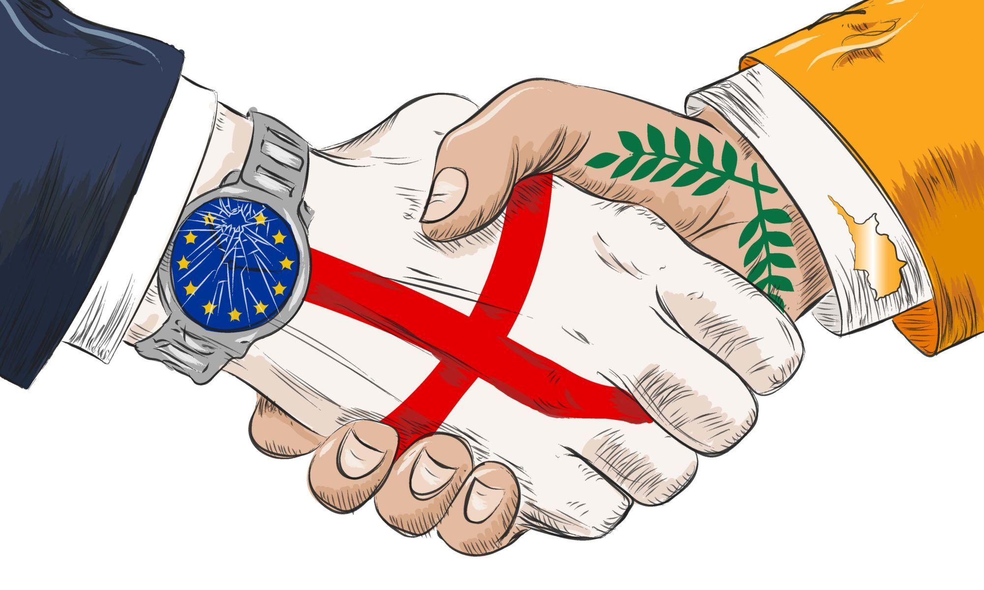 Cyprus England handshake