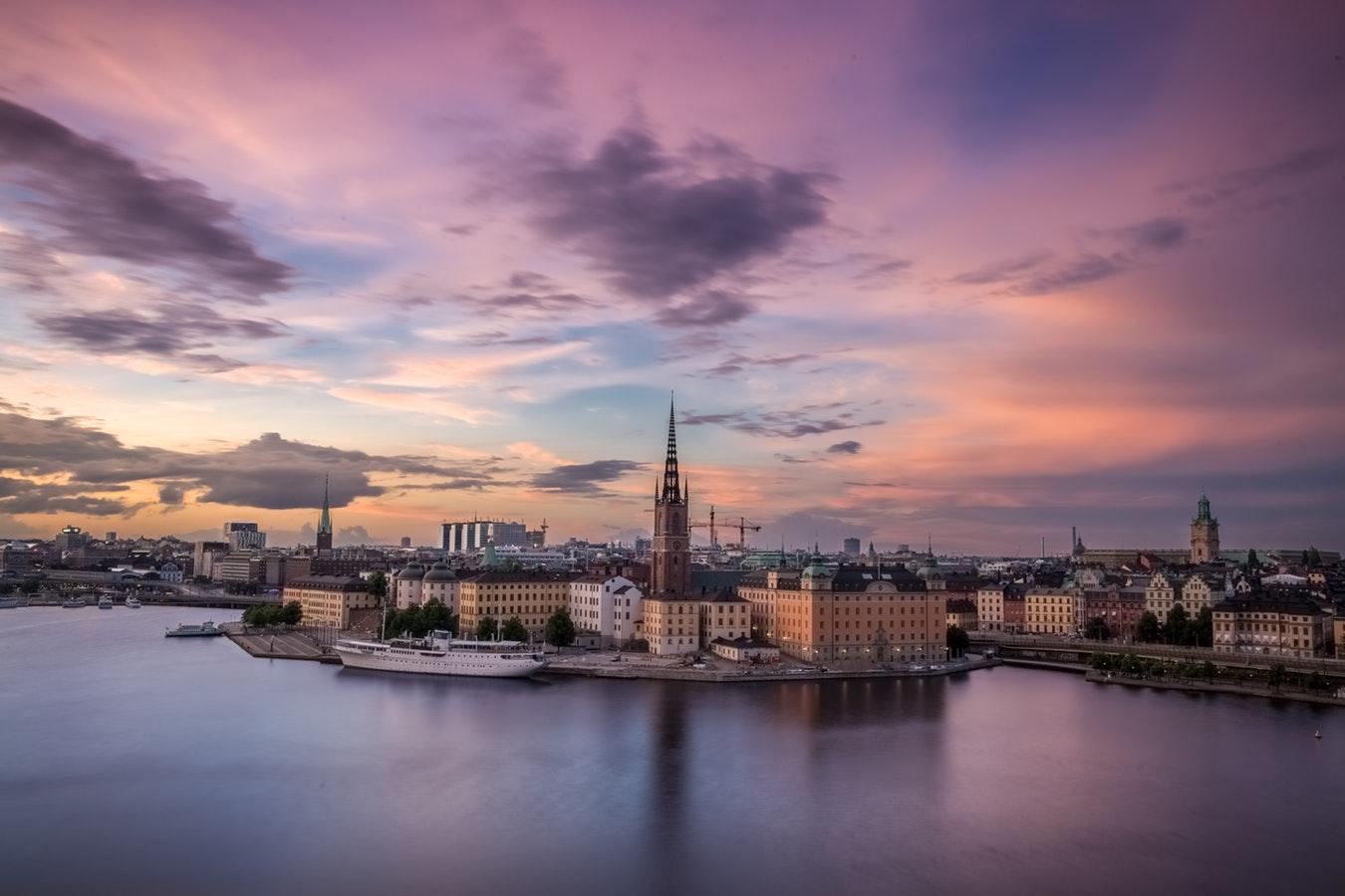 Swedish cityscape image