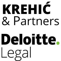 Logo Krehić & Partners in cooperation with Deloitte Legal