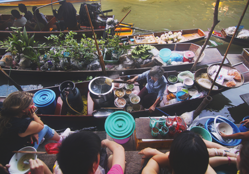 image of Asian food boat