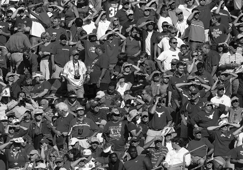 photo of crowd watching football game