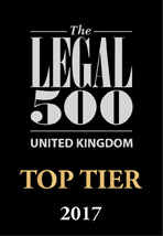 MSB Solicitors - Top Tier - The Legal 500, The Clients Guide to Law Firms