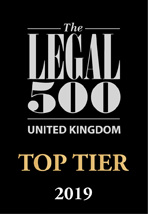 Legal 500 Top Tier Firm 2019