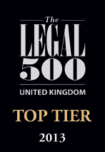 legal500uk recommended 2012 tier 150