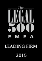 Leading Firm - Legal 500 - 2015