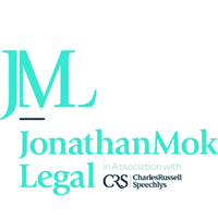 Jonathan Mok Legal in association with Charles Russell Speechlys logo