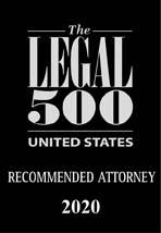 The Legal 500 Recommended Attorney for 2020